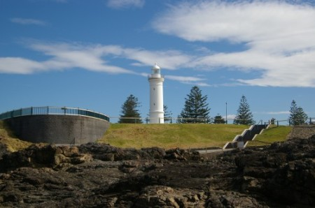 Kiama Lighthouse as seen from Blowhole Point