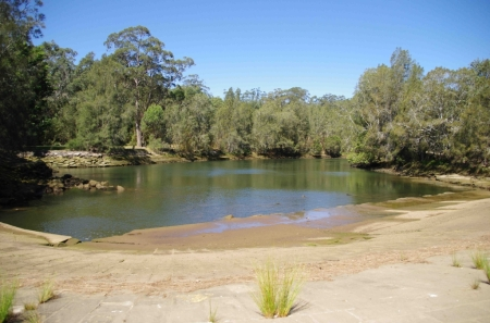 The saltwater side of the river, photographed from the weir